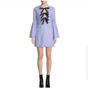 English factory poplin tie front dress NWT SZ S